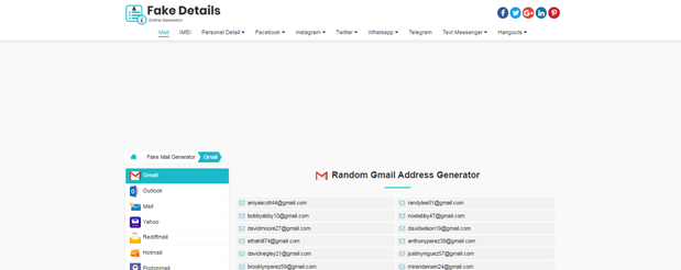 Fake Address Generator sites