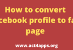 How to convert Facebook profile to fan page