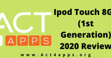 Ipod Touch 8Gb (1st Generation) 2020 Review