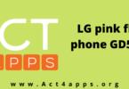 LG pink flip phone GD510