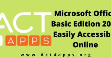 Microsoft Office Basic Edition 2020 Easily Accessible Online