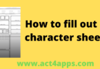 how to fill out dnd character sheet