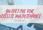 GUIDELINE FOR WEBSITE MAINTENANCE