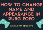 how to change name and appearance in PUBG 2020