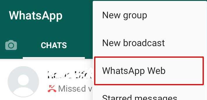 Whatsapp Web'e Git