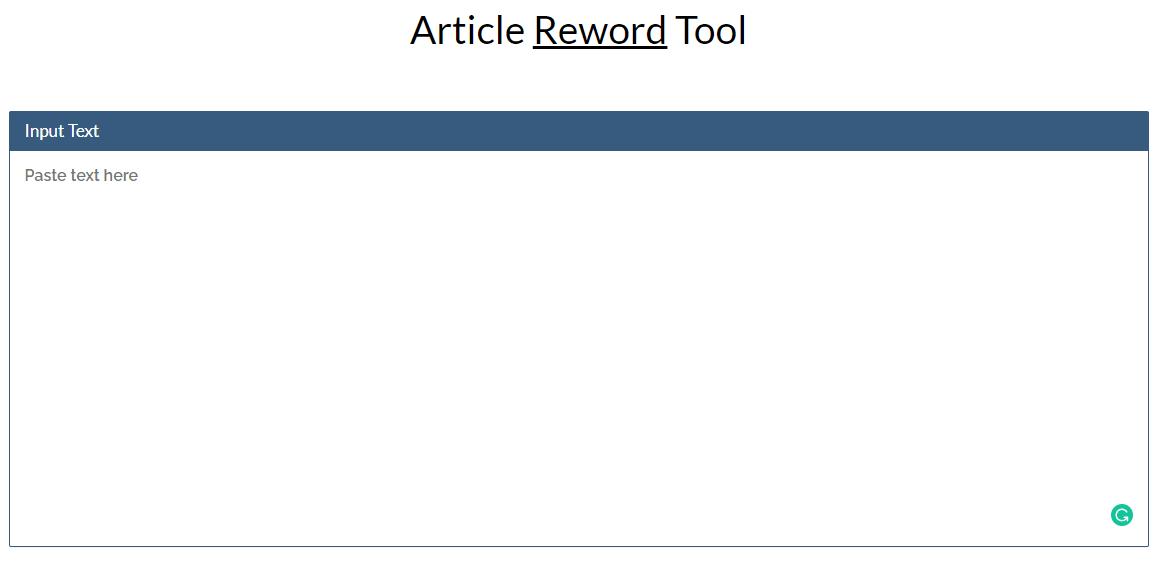Article Reword
