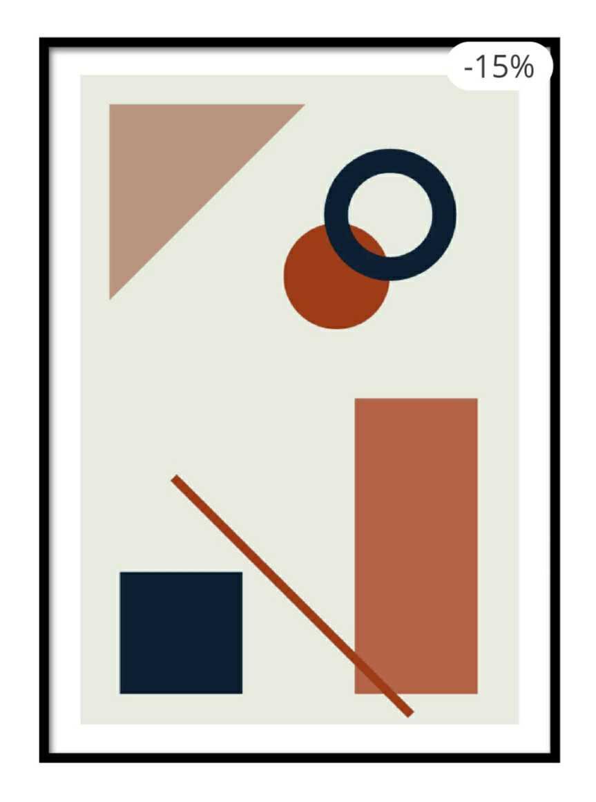 Modern Geometric Shape 2 Poster
